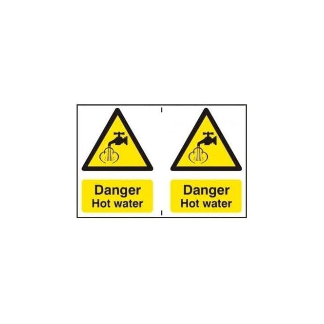 Warning Instant Hot Water : Danger hot water sign per sheet