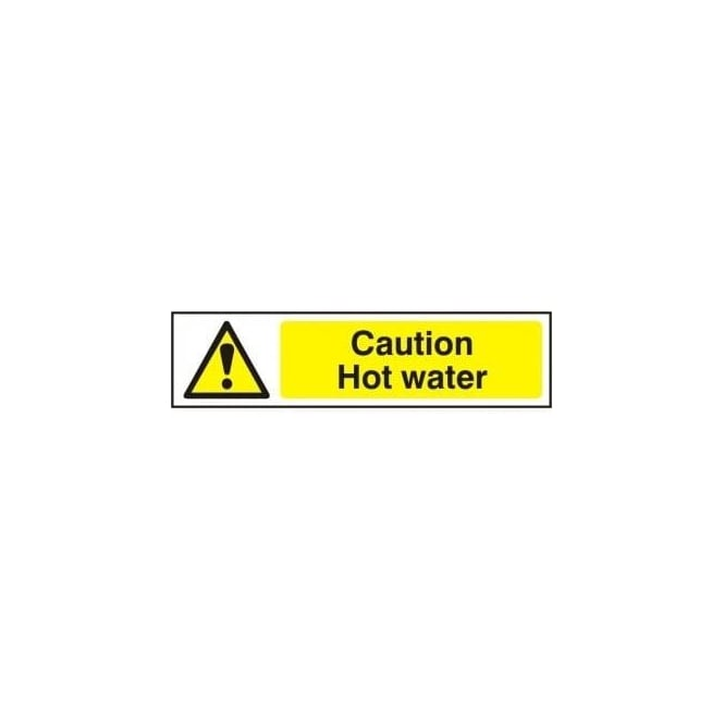 Warning Instant Hot Water : Caution hot water sign