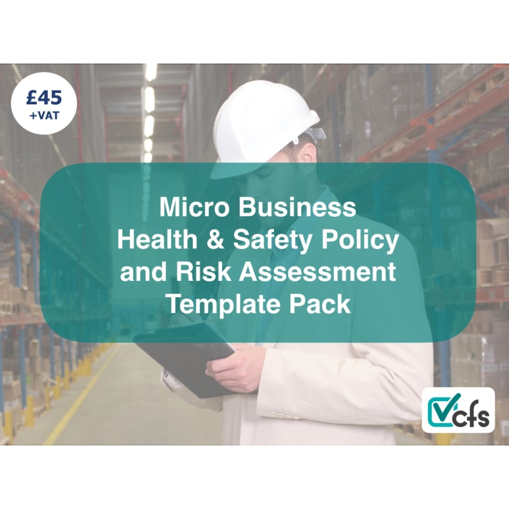 Micro business health safety policy and risk assessment pack cfs health and safety policy and risk assessment template for small businesses accmission