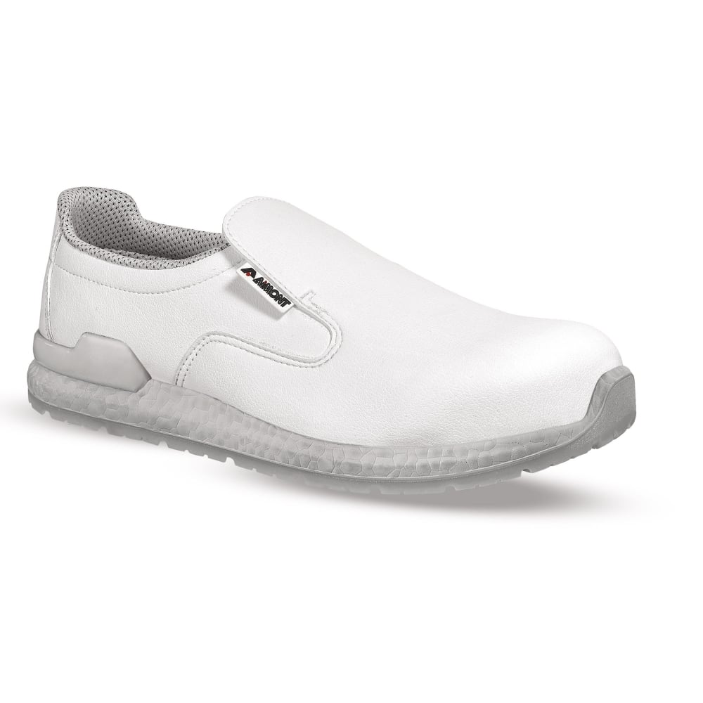 Water Resistant Slip-On White Safety Shoe