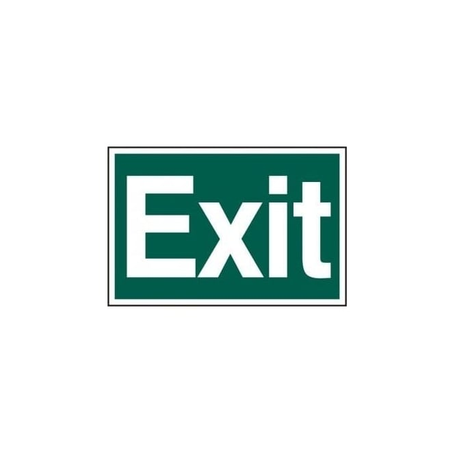 Complete Safety Supplies Exit Sign - Self Adhesive Semi Rigid PVC