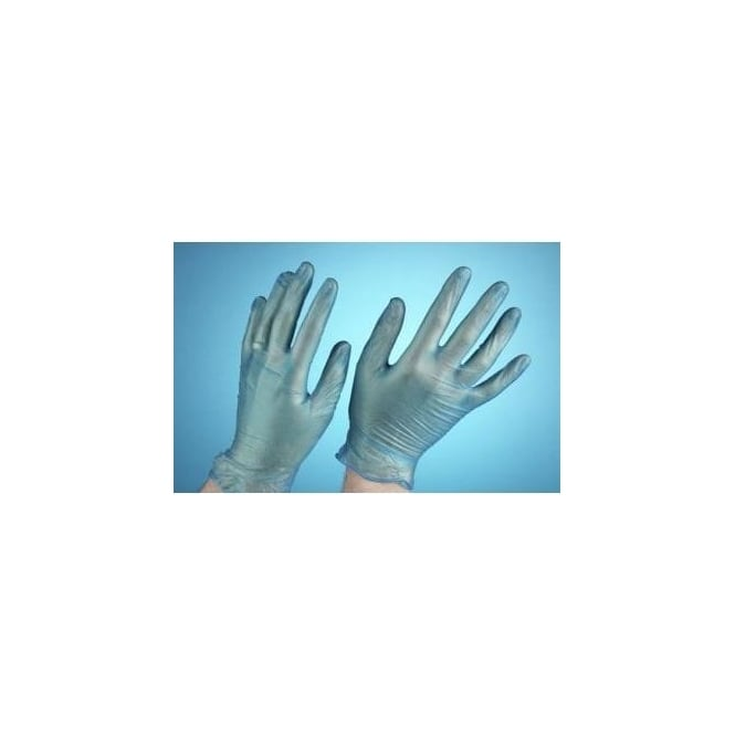 Steroplast Disposable Powder Free Blue Vinyl Gloves (Box of 100 Singles)