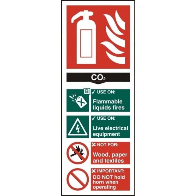 Complete Safety Supplies CO2 Fire Extinguisher Sign