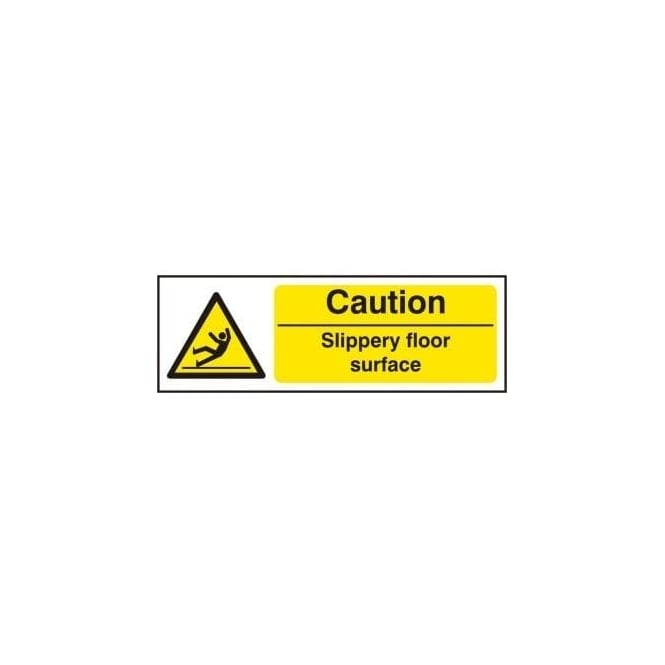 Complete Safety Supplies Caution Slippery Floor Surface Sign