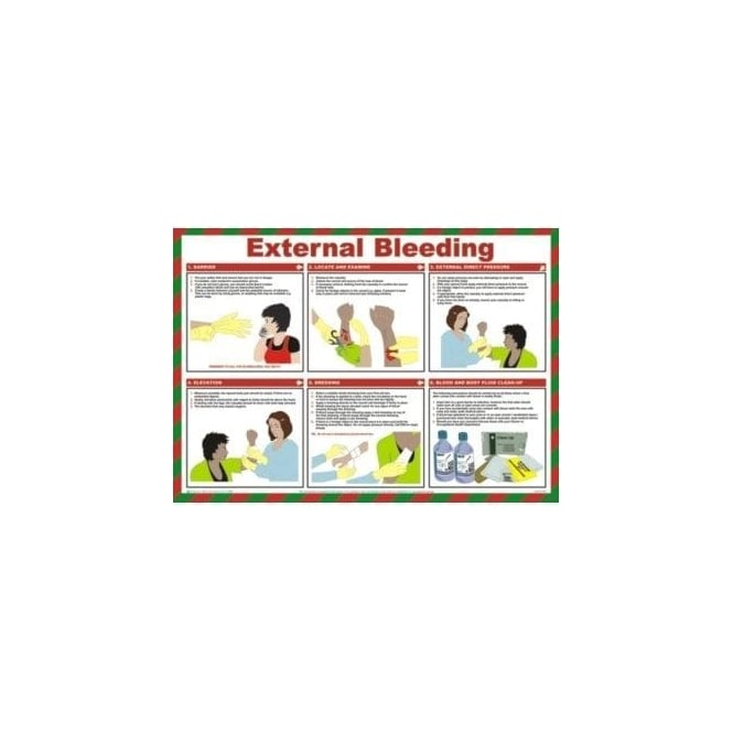 Complete Safety Supplies External Bleeding - Health and Safety Poster