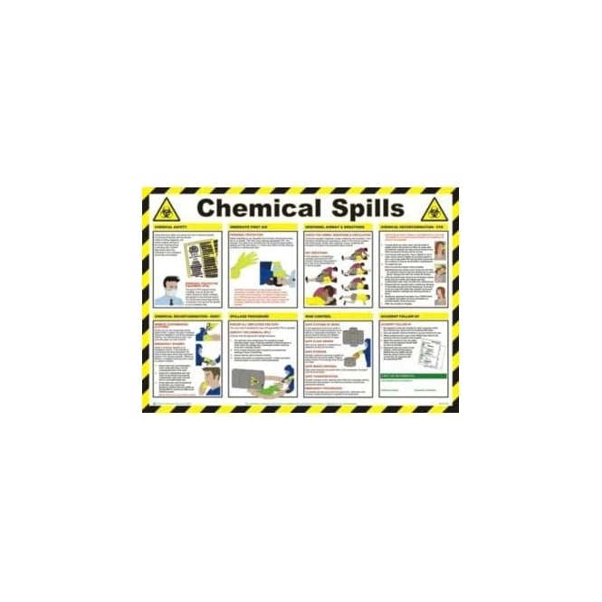 Complete Safety Supplies Chemicals Spills - Health and Safety Poster