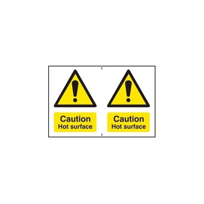 Complete Safety Supplies Caution Hot surface - 2 per sheet