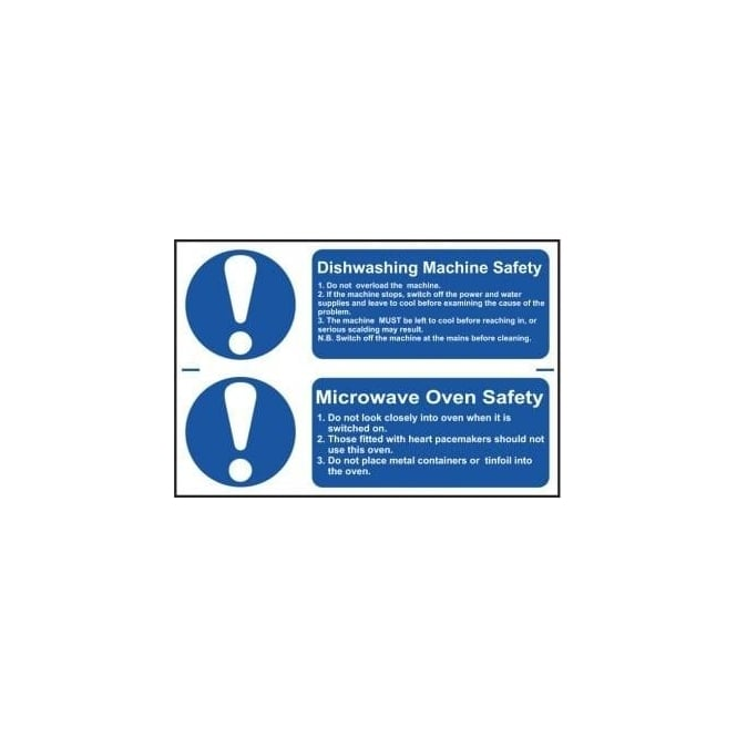 Complete Safety Supplies Dishwashing/Microwave Safety Sign (2 per sheet)