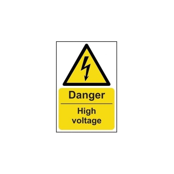 Complete Safety Supplies Danger High Voltage Sign