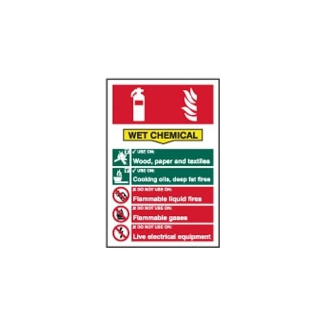 Complete Safety Supplies Wet Chemicals Fire Extinguisher Sign