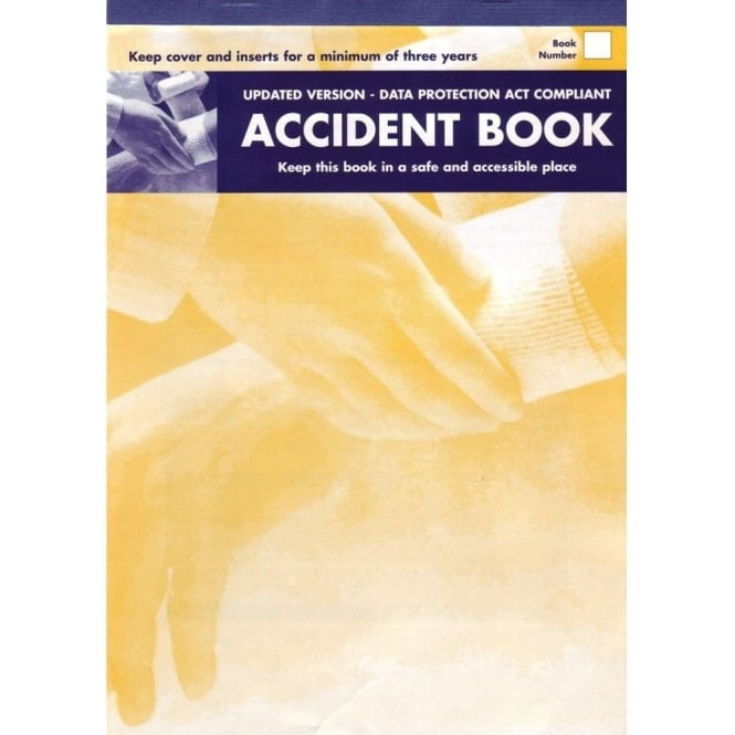 Steroplast Accident Book - A4 book to record all accidents at work.