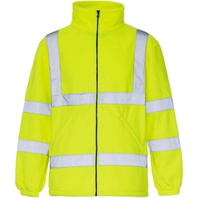 Supertouch Hi Vis Fleece Jacket Yellow EN ISO 20471