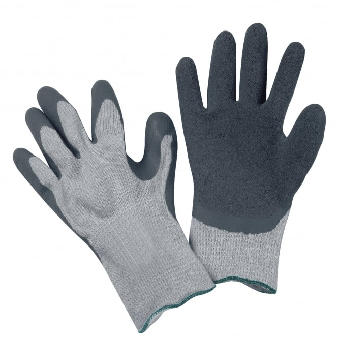 FlexiTog Grey Thermo Rubber Grip Gloves (Pack of 10)