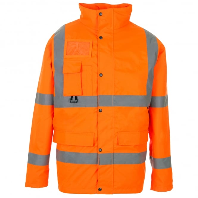Supertouch Hi Vis Jacket With ID & Map Pocket Orange GO/RT 3279