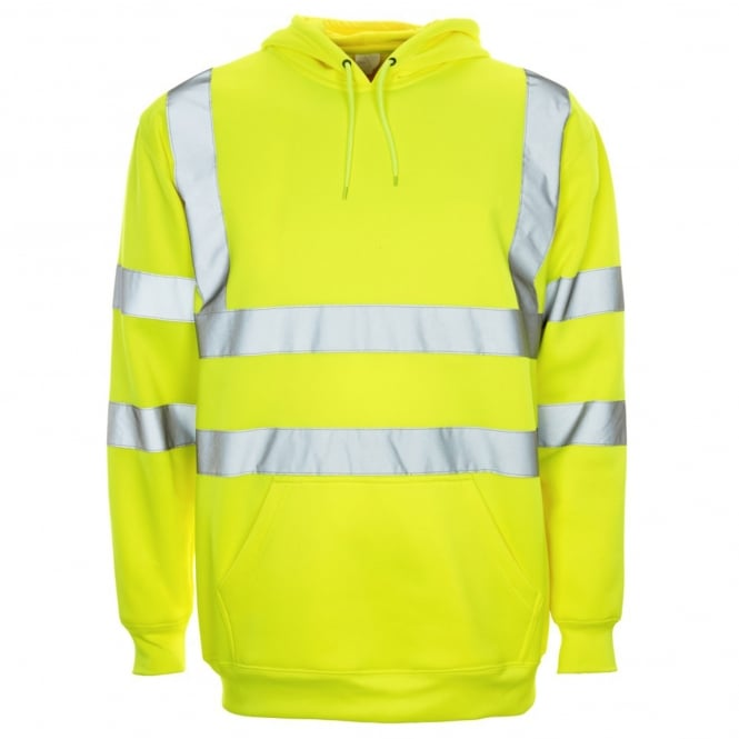 Supertouch Hi Vis Hooded Sweatshirt Yellow EN ISO 20471