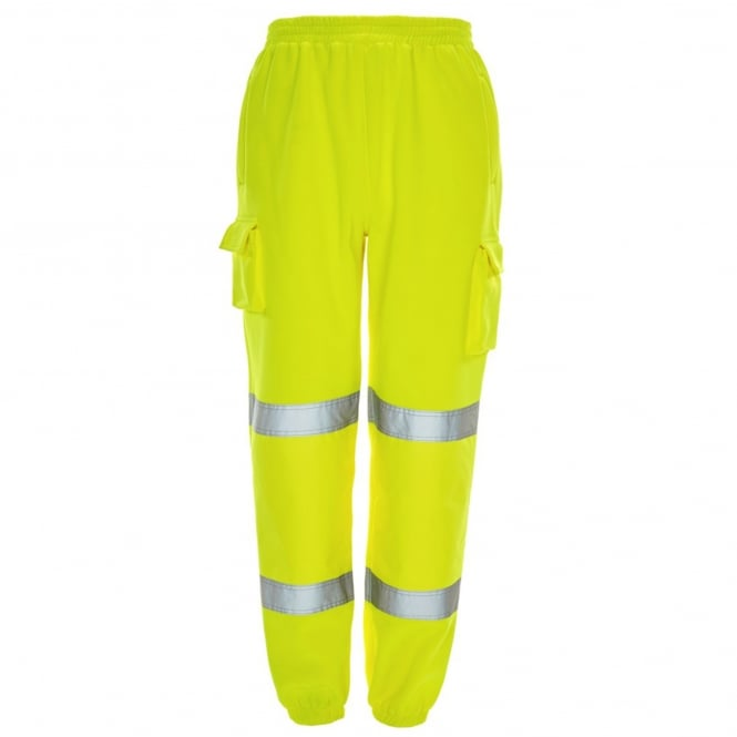 Supertouch Hi Vis Jogging Bottoms Yellow EN ISO 20471