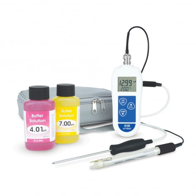 ETI 8100 Combination pH and Temperature Meter Kit