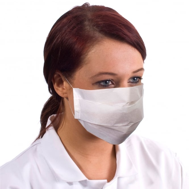 Supertouch Disposable Paper Face Masks Pack of 5000)