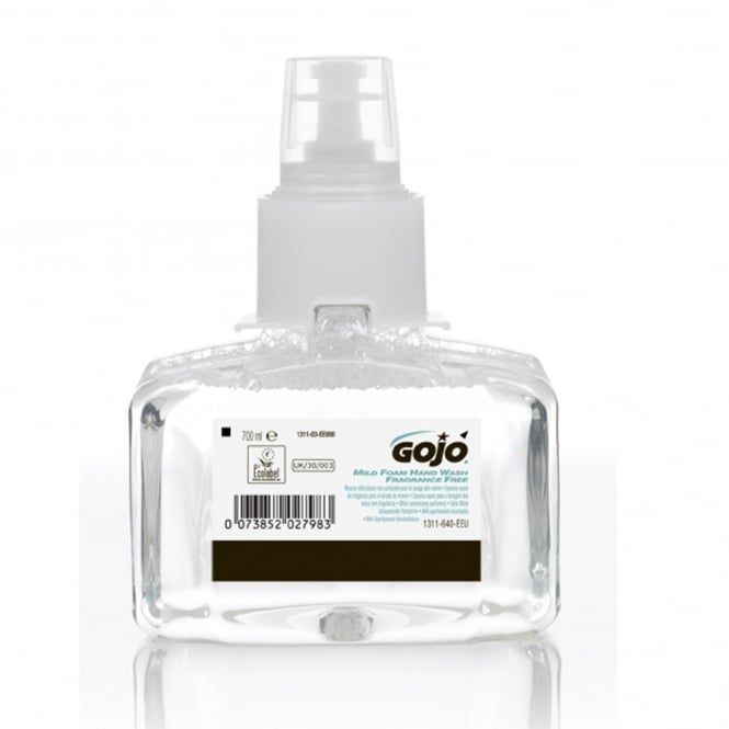 GOJO® LTX-7 Hand Wash Foaming Soap Dispenser Refills - Mild Fragrance Free 3 x 700ml