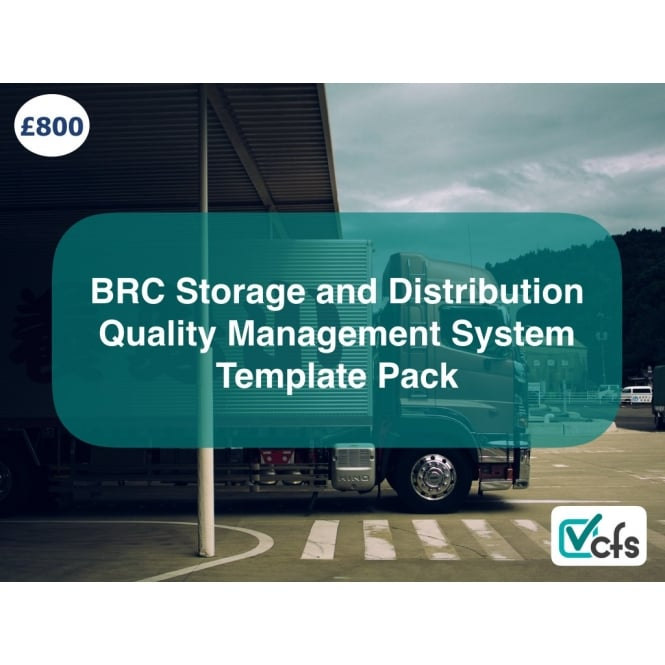 CFS BRC Storage and Distribution Template pack - Fresh Produce and Chilled Foods