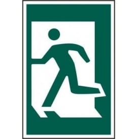 Exit Sign with Man Running Left