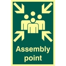 Photoluminescent Assembly Point Identification Sign