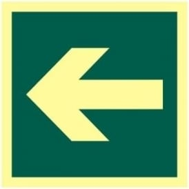 Photoluminescent Arrow Left Sign