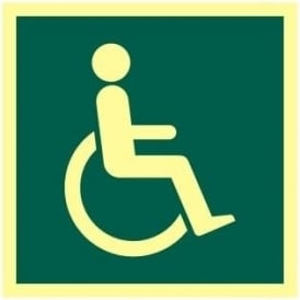 Photoluminescent Disabled Sign - Health & Safety Signage
