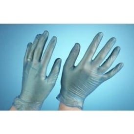 Disposable Powder Free Blue Vinyl Gloves (Box of 100 Singles)