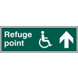 Disabled Refuge Point with Arrow Up Sign