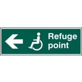 Disabled Refuge Point with Arrow Left Sign