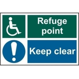 Disabled Refuge Point Keep Clears Sign