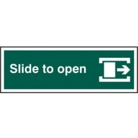Slide To Open Right with Border Sign