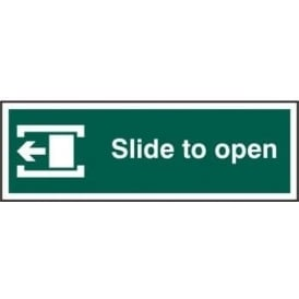 Slide To Open Left Sign with Border