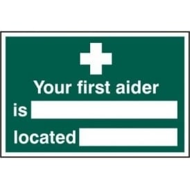 First Aider Location Sign