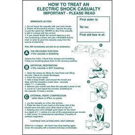 How To Treat An Electric Shock Sign
