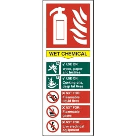 Wet Chemicals Fire Extinguisher Sign