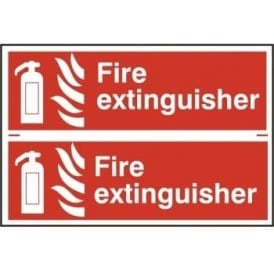 Fire Extinguisher Sign - 2 per sheet