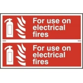 Fire Extinguisher Sign for use on Electrical Fires - 2 per sheet