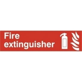 Fire Extinguisher Sign - 200 x 50