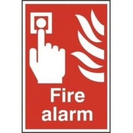 Fire Alarm Sign - Self Adhesive Semi Rigid PVC - 200 x 300