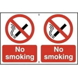 No Smoking Sign 2 per sheet