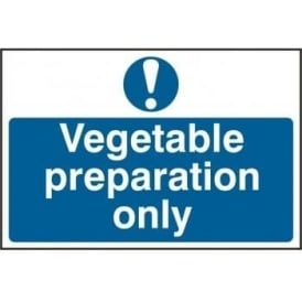 Vegetarian Preparation Only Sign