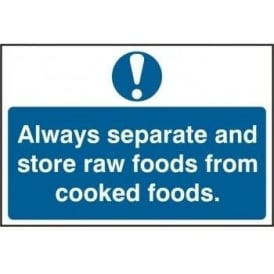 Separate Raw and Cooked Foods Sign