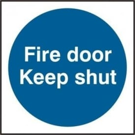 Fire Door Keep Shut Signs (100 x 100) - Value Pack