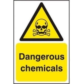 Dangerous Chemicals Sign - SAV/RPVC