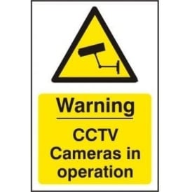 Warning CCTV Cameras in Operation Sign