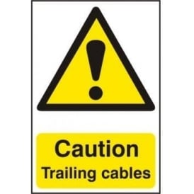 Caution Trailing cables Sign