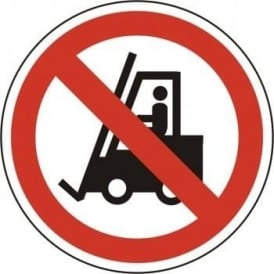 No Forklift Trucks Floor Sign