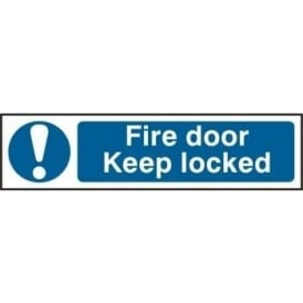 Fire Door Keep Locked - Mini Sign